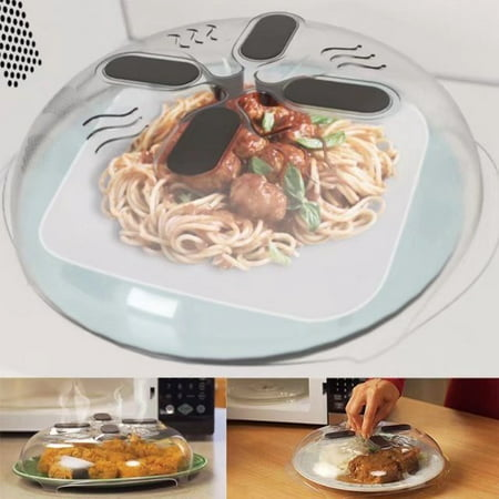 VicTsing Microwave Hover Anti-Sputtering Cover Food Splatter Guard with Steam (Best Way To Steam Broccoli In Microwave)