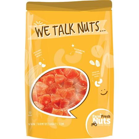 Farm Fresh Nuts Dried Papayas (2 LB Chunks) (Papaya Chunks)