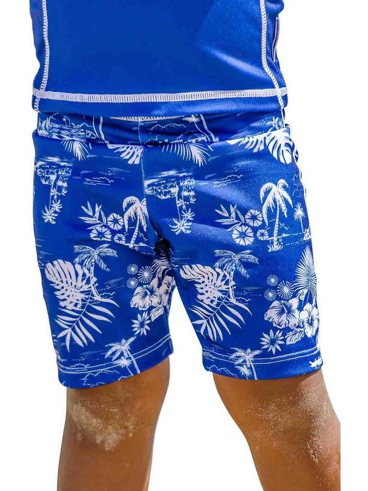 Sun Emporium Baby Boys Navy Aloha Print Swim Jammers