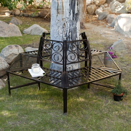 Coral Coast Scrollback Metal Tree Surround Bench ()
