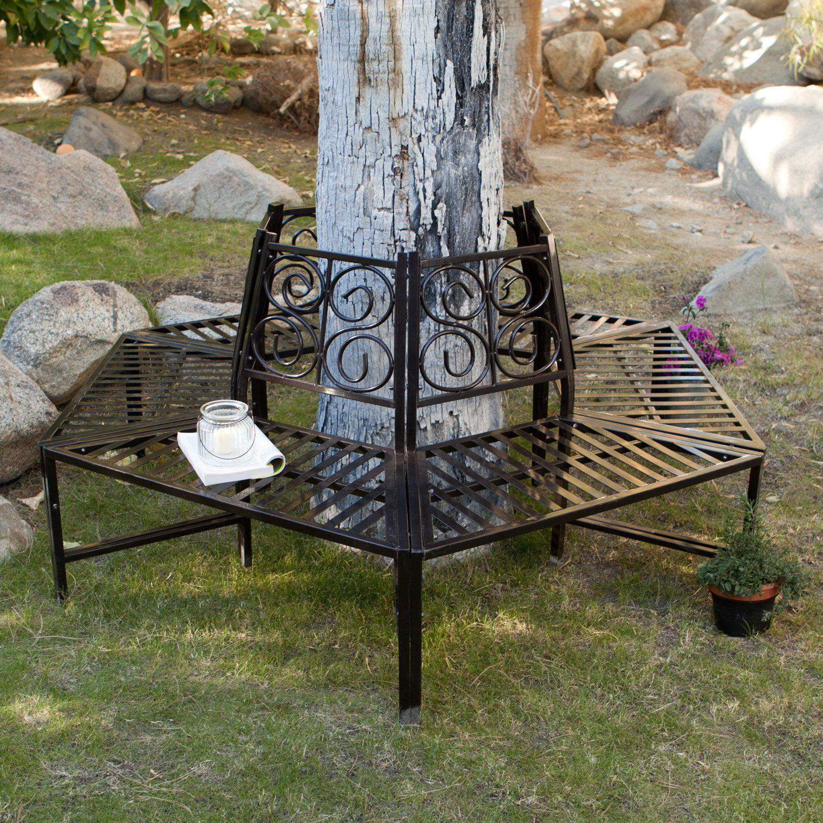 Coral Coast Scrollback Metal Tree Surround Bench
