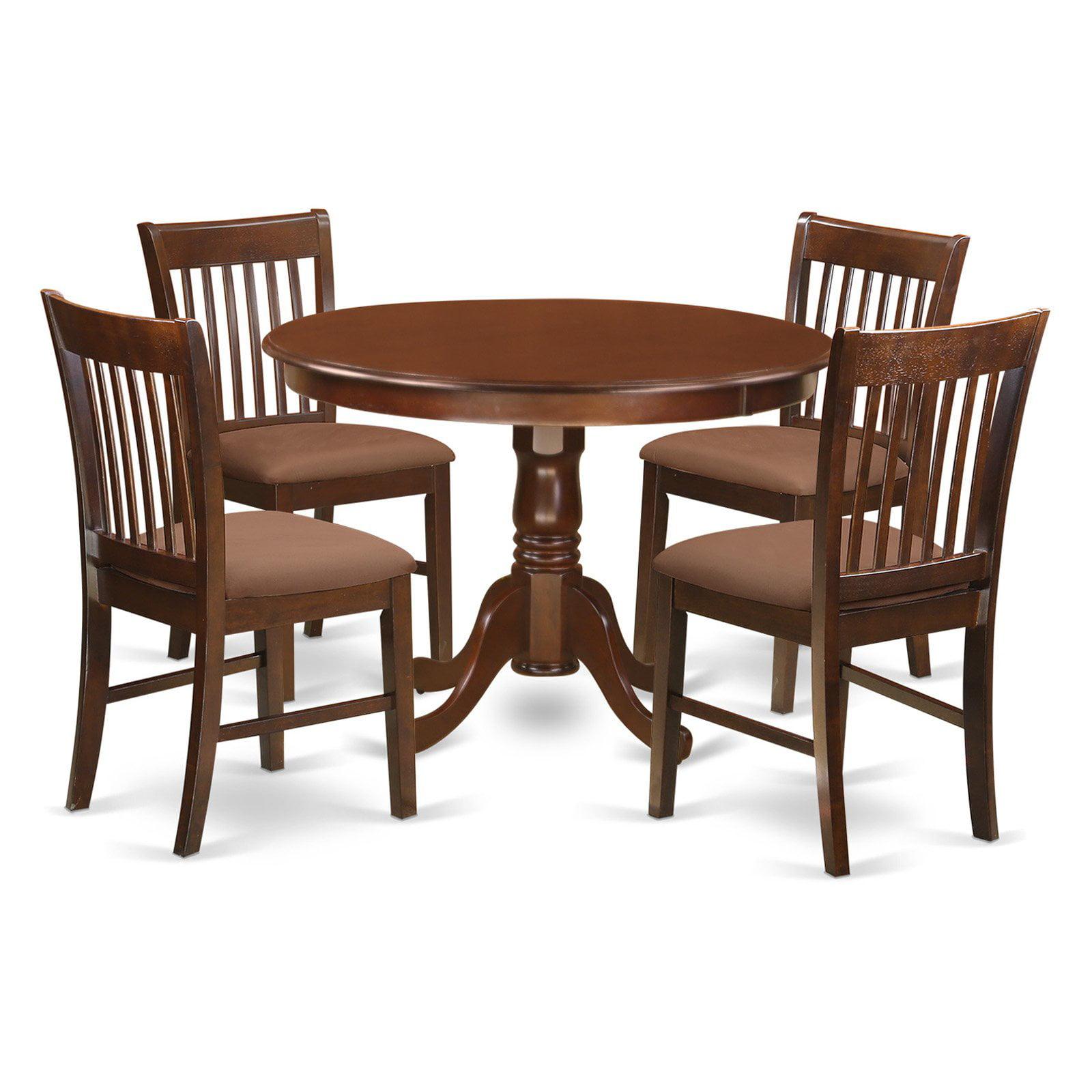 East West Furniture Hartland 5 Piece Slat Back Dining Table Set