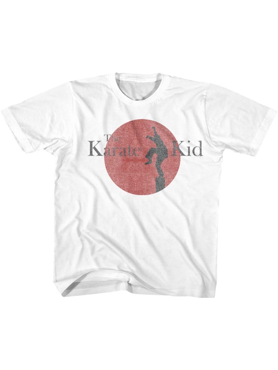 Karate Kid 80S Logo White Toddler T-Shirt Tee
