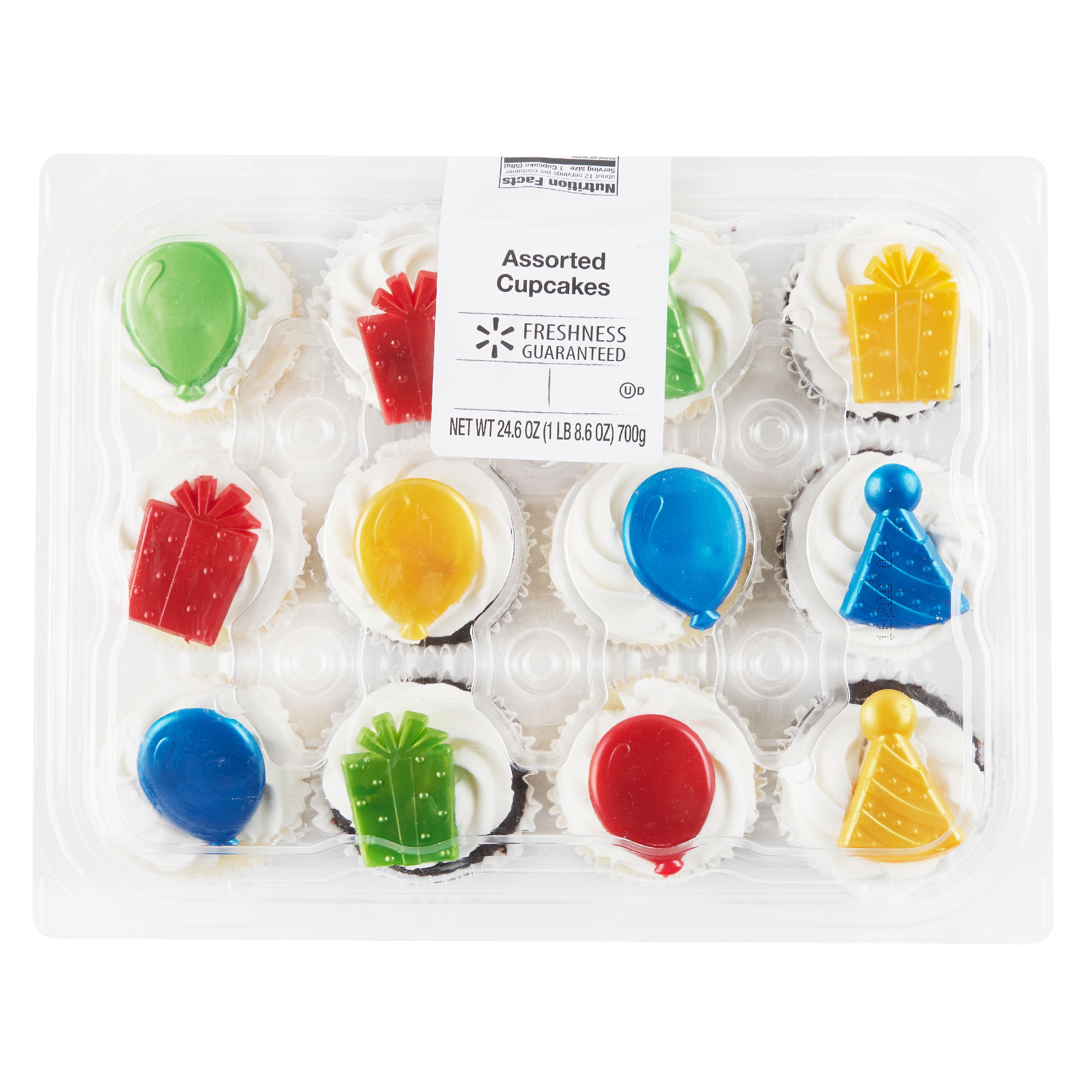 Freshness Guaranteed Assorted Cupcakes, 24.6 oz, 12 Count