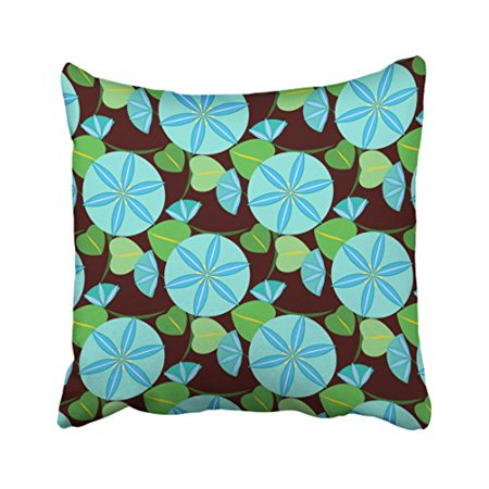 WinHome Multicolor Vivid Flowering Vine Abstract Retro Blue Mint Green Print Pattern Polyester 18 x 18 Inch Square Throw Pillow Covers With Hidden Zipper Home Sofa Cushion Decorative - Mint Blue Color