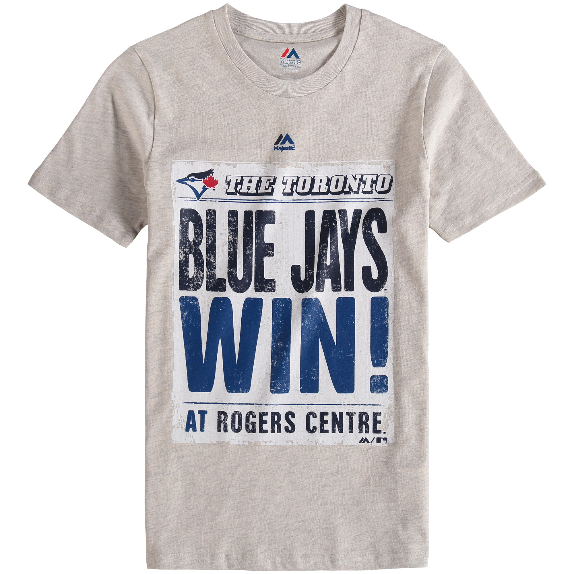 Toronto Blue Jays Majestic Youth Front Page T-Shirt - Cream