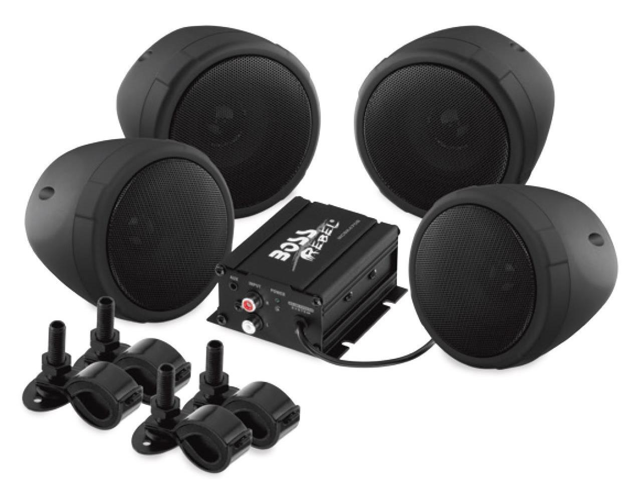 1000 Watt Speaker Kit with Bluetooth Audio Streamin Boss Audio 3in MCBK470B