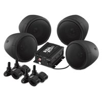 Boss Audio MCBK470B 3in. 1000 Watt Speaker Kit with made with Bluetooth technology Audio Streaming - Black