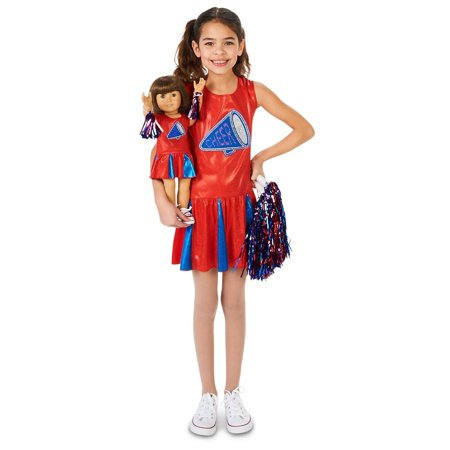 Cheer Team Child Costume with Matching 18 Doll Costume (Matching Costumes For Best Friends)