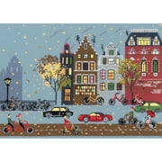 """Cycle Lane Counted Cross Stitch Kit, 11.75"""" x 8.25"""", 14-Count"""
