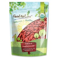 Organic Goji Berries, 3 Pounds - Sun Dried, Large and Juicy, Non-GMO, Raw, Vegan, Bulk – by Food to Live