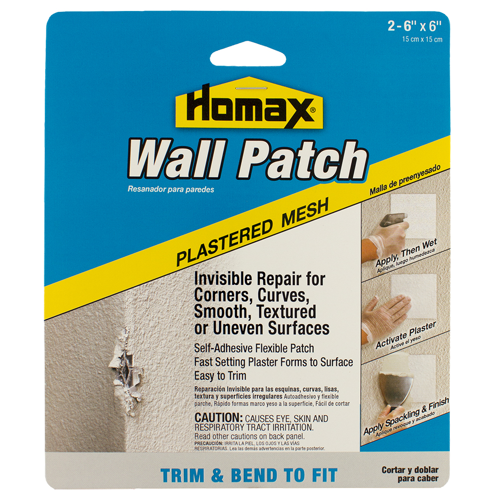 "Homax Plastered Mesh Wall Patch, 2PK - 6""x6"" Patches"