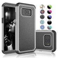 Samsung S8 Case, Galaxy S8 Cute Case,[Datura Mnit] Njjex Retro Pattern Sparkle Bling Glitter Diamond Protective Hard Case For Samsung Galaxy S VIII (5.8 Inch)