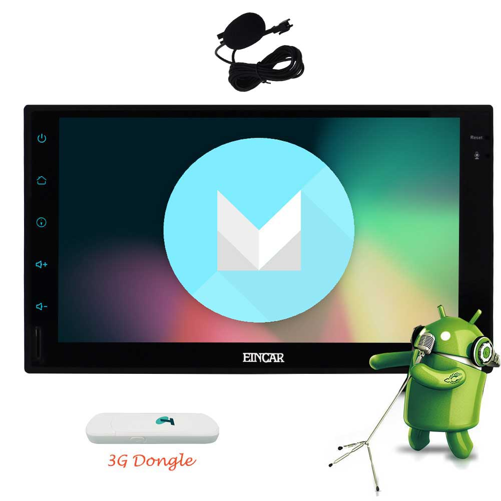 3G Dongle Included Android 6.0 Car Stereo with External M...