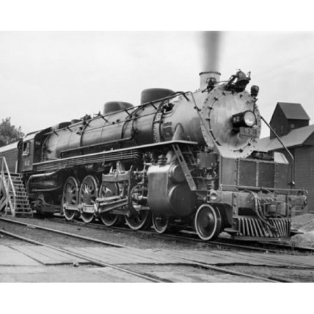 Steam train on a railroad track Stretched Canvas -  (18 x 24)