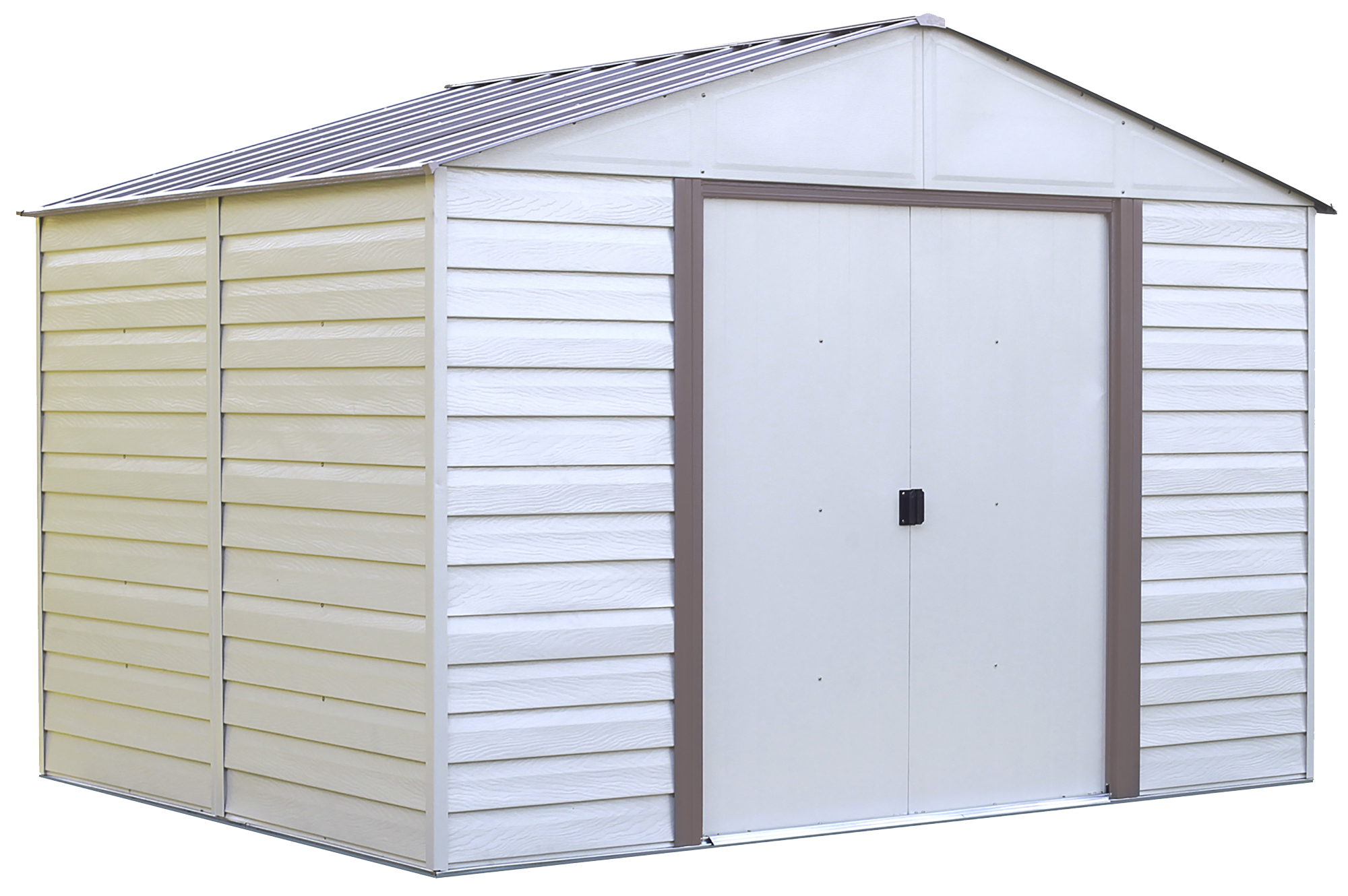 Vinyl Milford 10 X 12 Ft. Steel Storage Shed Grey Bark/Almond