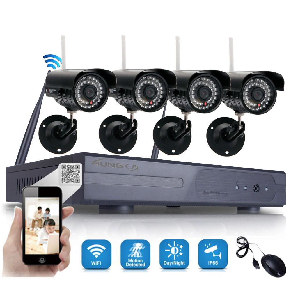 Ktaxon 8CH 720P WIFI CCTV Security System HDMI NVR 4PCS IR Outdoor Wireless Night Vision IP Camera System Surveillance Kit NO Hard Drive Disk