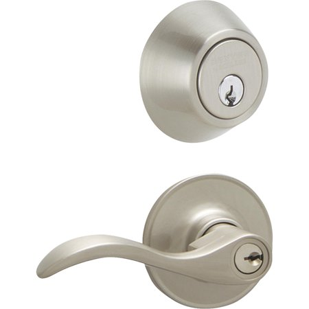 Schlage JC60VSEV619 Satin Nickel Seville Security Combo Deadbolt and Entry