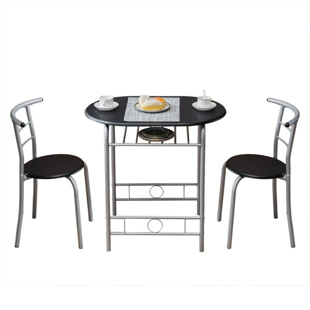 Pvc Breakfast Table, 3 Piece Compact Dining Set with Table And Matching Chairs