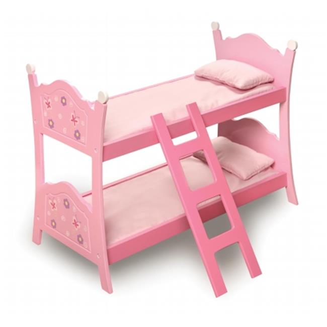 Badger Basket 01854 Blossoms Butterflies Doll Bunk Beds With Ladder by