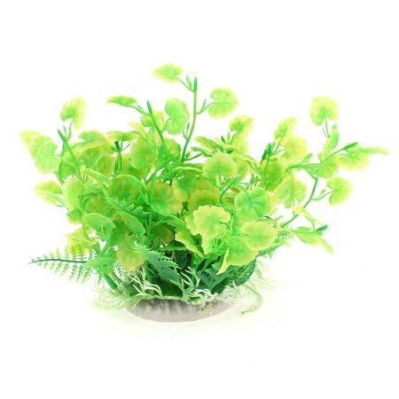 6 High Green Plastic Fish Tank Aquarium Decor Emulation Underwater Plants - image 2 de 2