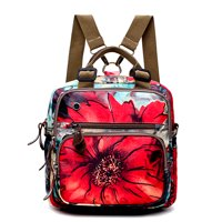 Multi Function Outdoor Flower Pattern Shoulder Diaper Bag Crossbody Baby Bag Mommy Backpack