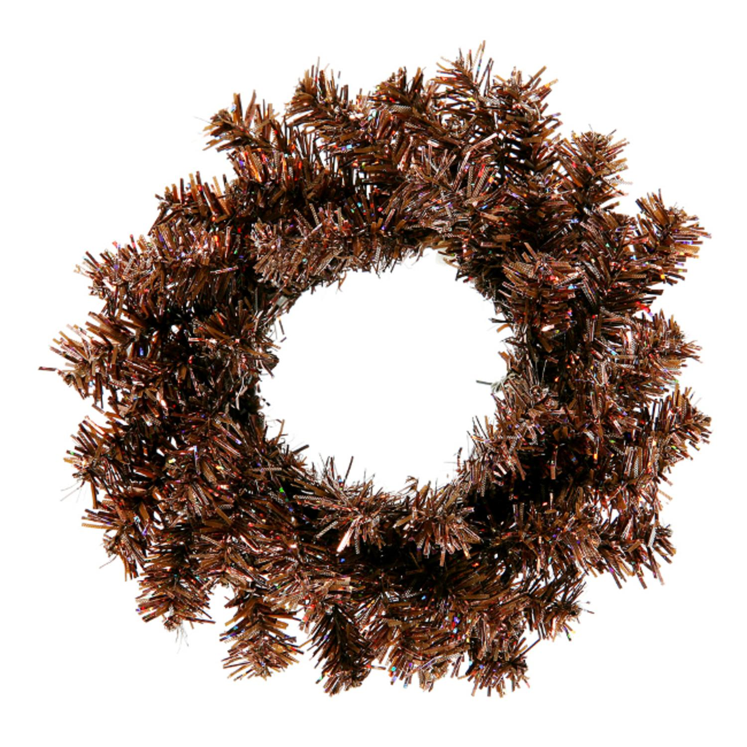 "Club Pack of 24 Sparkling Mocha Brown Artificial Christmas Wreaths 6"" - Unlit"