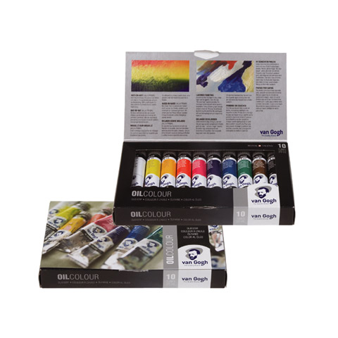 Royal Talens van Gogh Oil Color Set - Asst Colors - 20 ml - 10 Tubes
