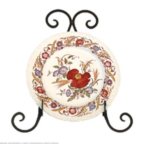 Village Wrought Iron Plate Holder 0in.W x 12in.H x 12in.D