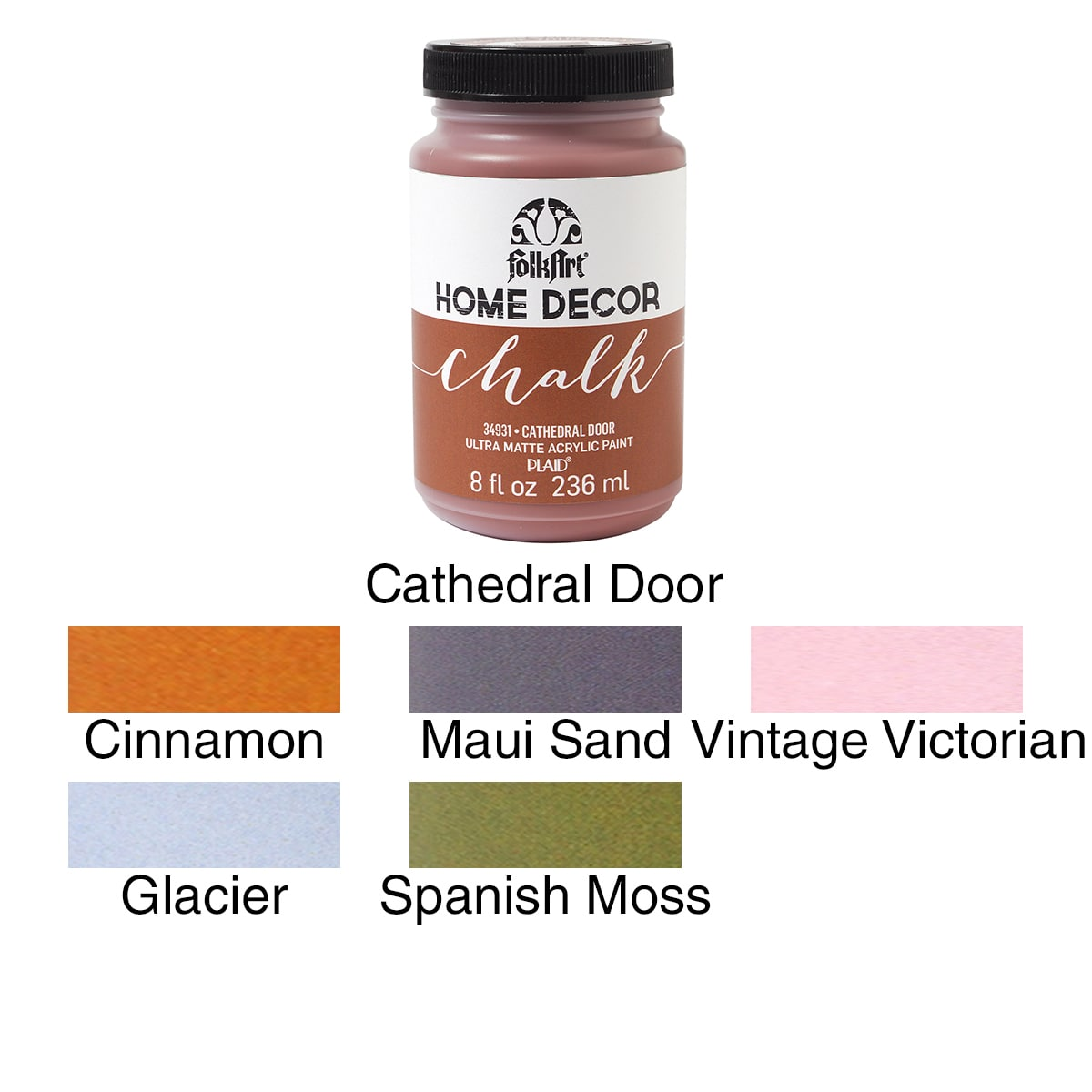 FolkArt Home Decor Chalk Paint, 8oz   Walmart.com