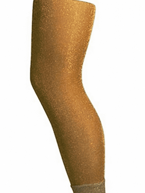 L C Boutiques Girls Sparkly Footless Ankle Tights Metallic for Ages 1-14 Years