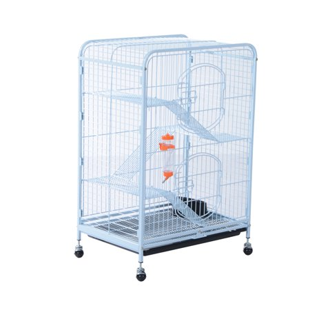 Pawhut 37 in. 4 Level Indoor Metal Small Animal Cage