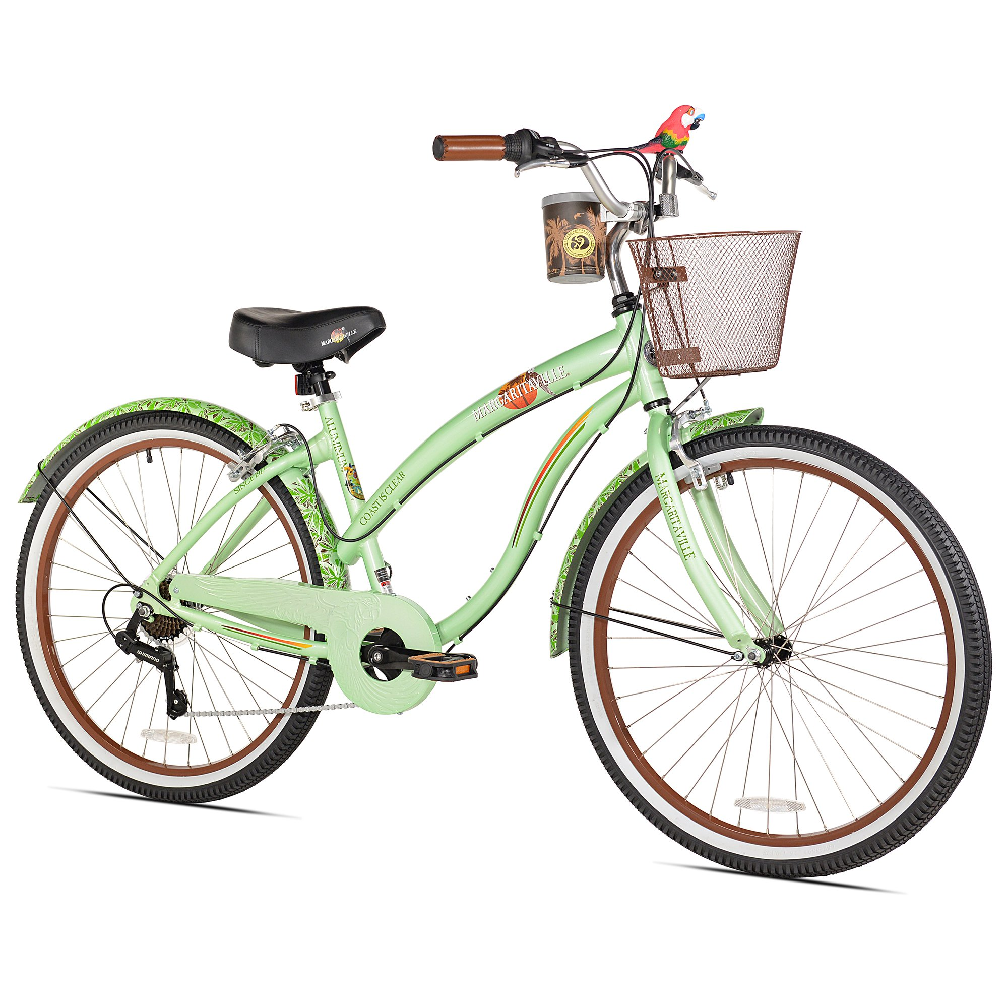 "Margaritaville 26"" Ladies Coast is Clear 7 Speed Cruiser Bike with Bottle Opener"