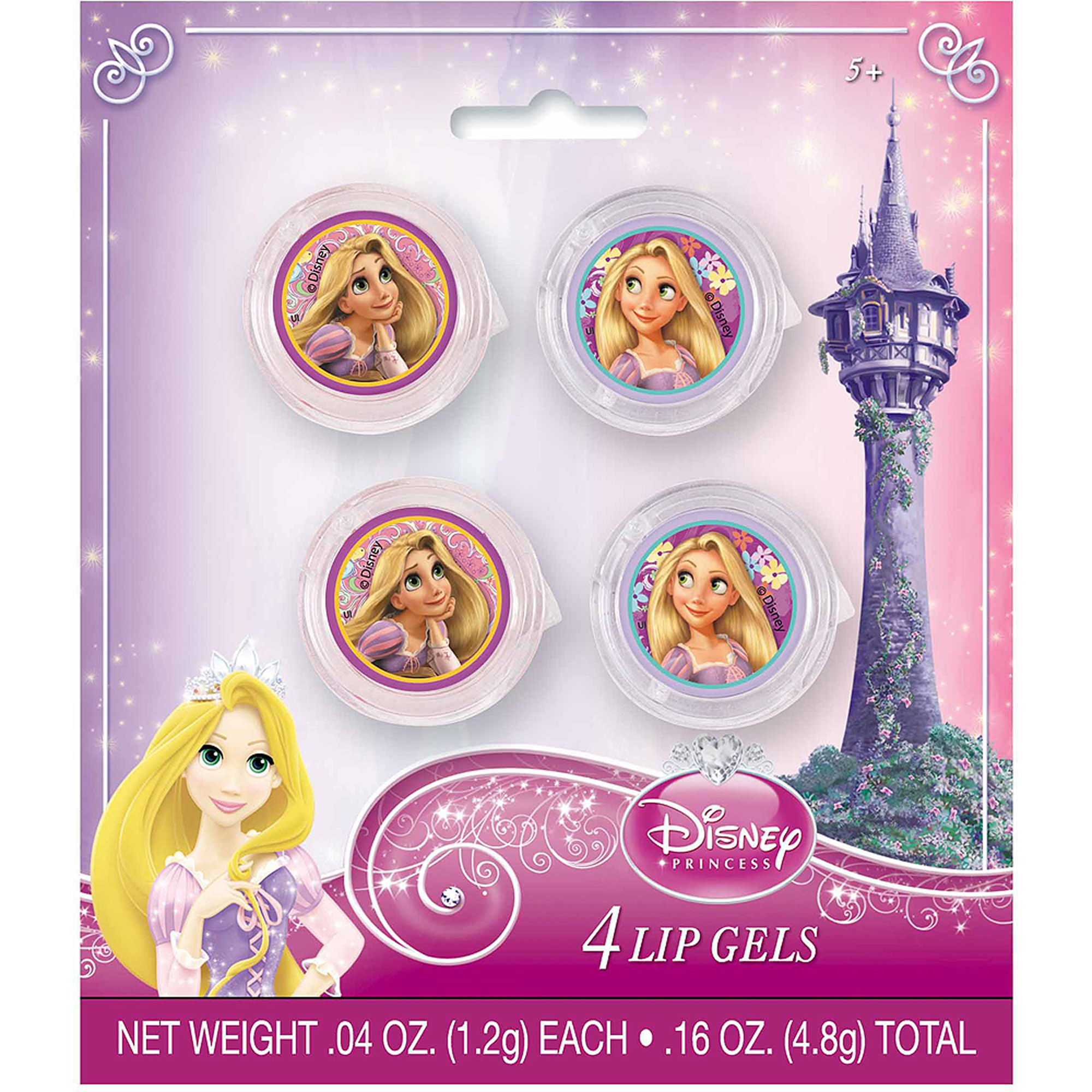 Disney Tangled Glitter Lip Gloss Party Favors, 4ct