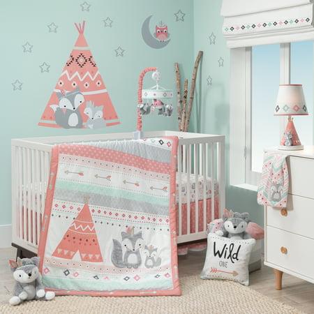 Lambs & Ivy Infant Newborn Chevron Poly-Cotton Blend Nap Mats, Pink