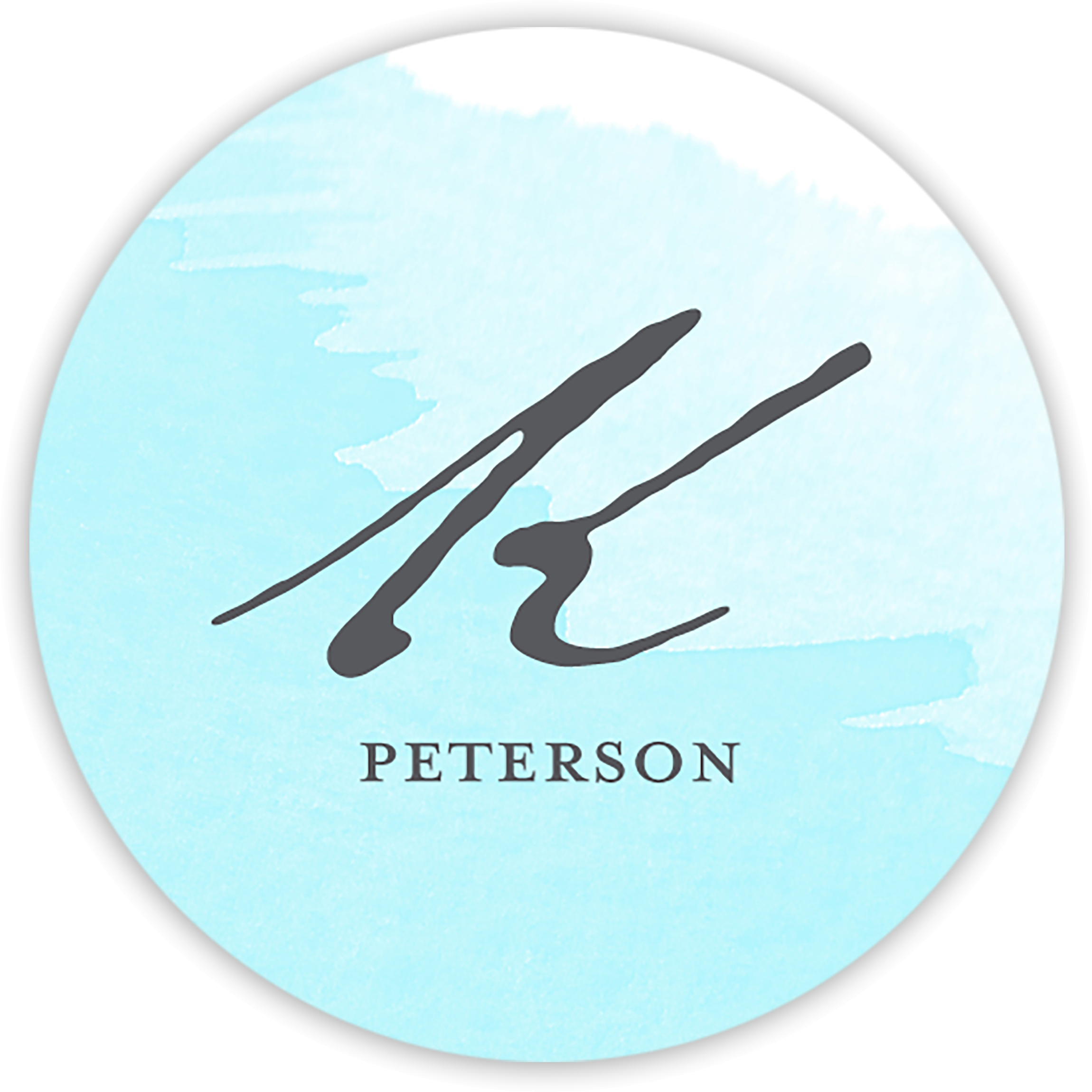 Watercolor Note - Personalized 1.75 Circle Seal Sticker