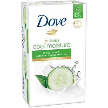 4 Pack - Dove go fresh Beauty Bar,  4 oz bars, Cucumber & Green Tea 6 ea (Castille Four Light)