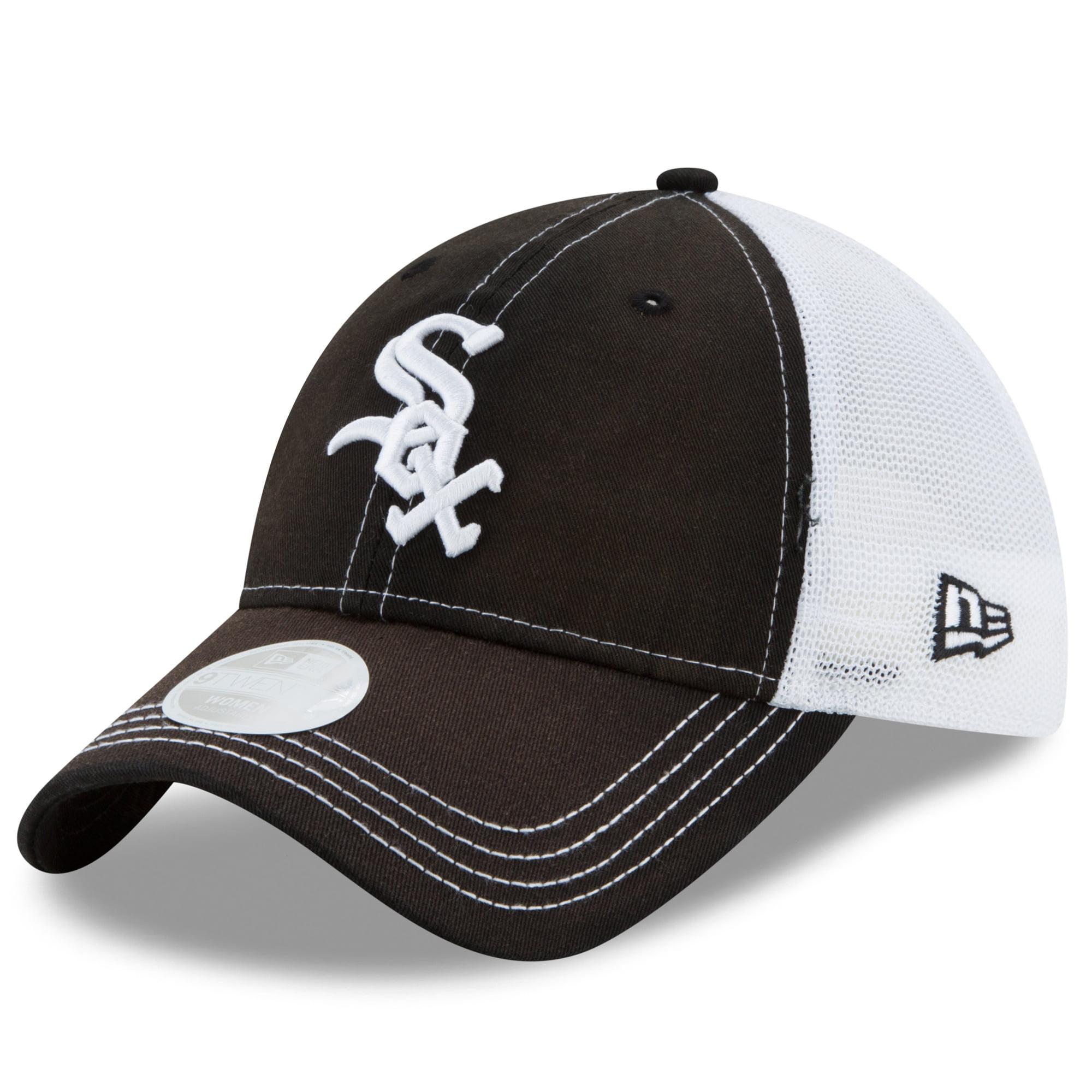 Chicago White Sox New Era Women's Spirited 9TWENTY Adjustable Hat - Black/White - OSFA