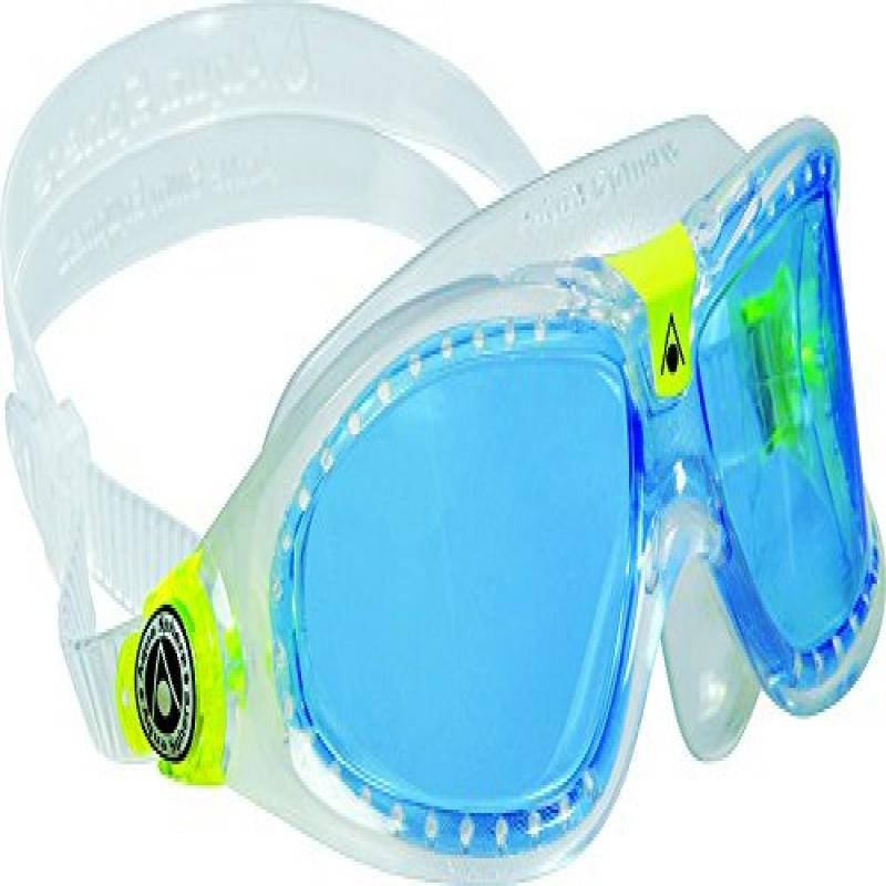 Aqua Sphere Seal Kid Swim Goggle (Blue Lens   Transparent New version) by