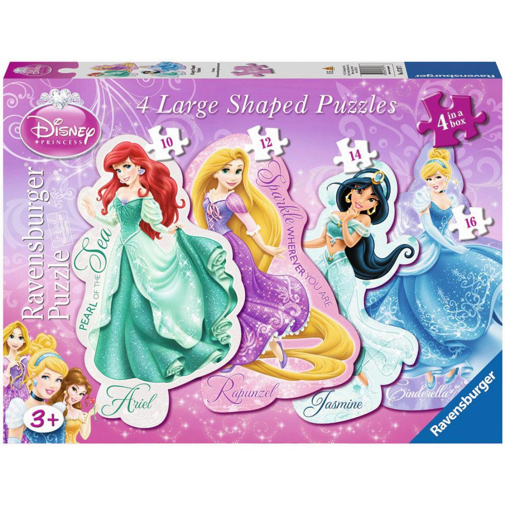 Disney Princess Shaped Puzzles 4-Pack