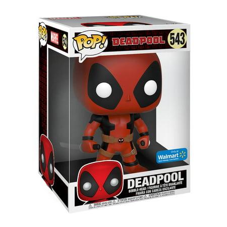 "Funko POP! Marvel: Deadpool - 10"" Deadpool w/Swords (Red) - Walmart Exclusive"