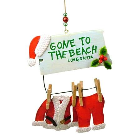 Santa Claus Gone to the Beach Love Santa Christmas Holiday