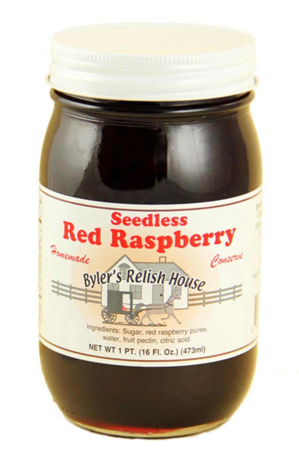 Byler's Relish House Homemade Amish Country Seedless Red Raspberry Jam 16 oz. by Byler's Relish House