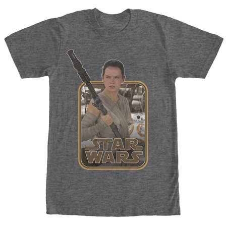 Star Wars Retro Rey And Bb 8 Mens Graphic T Shirt