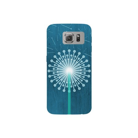 Dandelion Picture Graphic Floating Petals Blue Background Phone Case - For Samsung Galaxy S6 Back Cover
