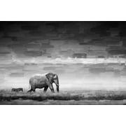 Parvez Taj Elephant Art Print on Premium Canvas