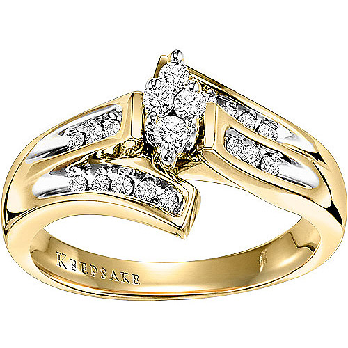 Keepsake Dearest 1/4 Carat T.W. Diamond 10kt Yellow Gold Ring