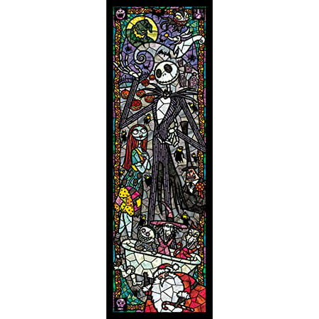Tenyo Nightmare Before Christmas Stained Glass Gyutto Size Series Jigsaw Puzzle (456 (Jigsaw Glasses)