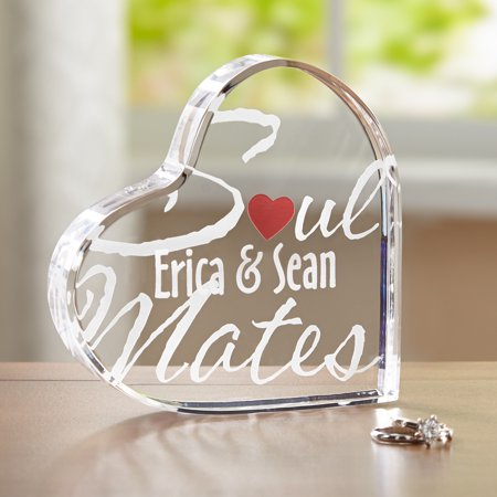 Shape Acrylic Plaque (Personalized Soul Mates Acrylic Heart)