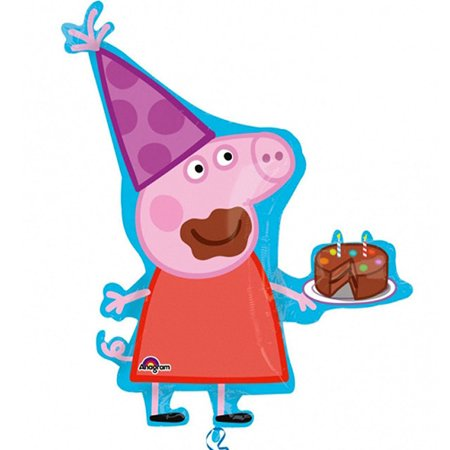 Jumbo Supershape Peppa Pig Character Foil / Mylar Balloon - Peppa Pig Party Theme